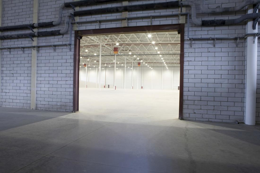 This is a picture of an industrial concrete floor polishing.